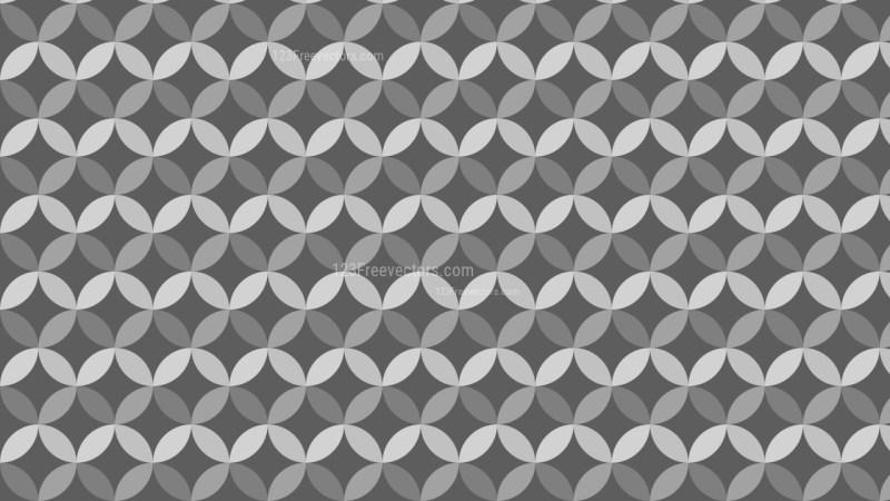Dark Grey Overlapping Circles Background Pattern Graphic