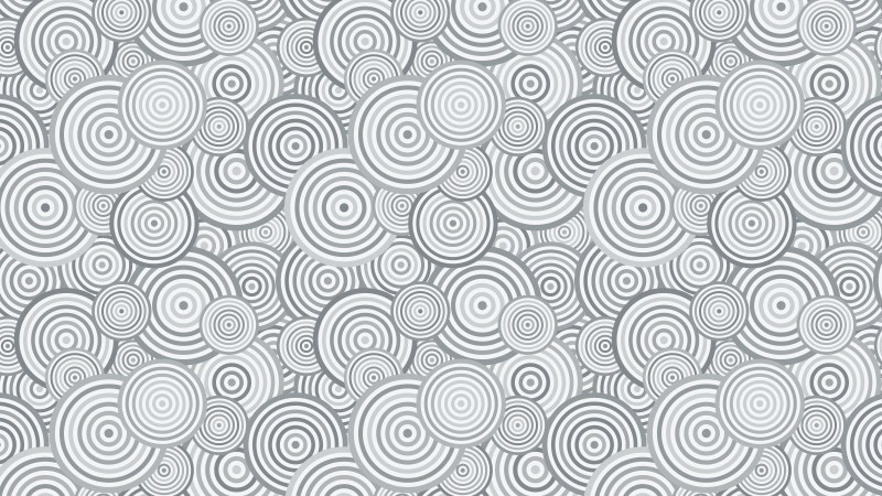 Grey Overlapping Concentric Circles Pattern Background Illustrator