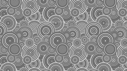 Grey Seamless Overlapping Concentric Circles Pattern Vector