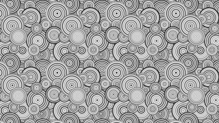 Grey Seamless Overlapping Concentric Circles Pattern Background Vector Art
