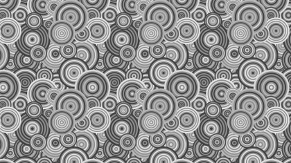 Grey Seamless Overlapping Concentric Circles Background Pattern Graphic