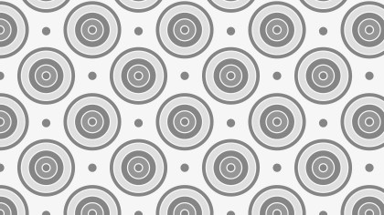 Grey Concentric Circles Pattern Background
