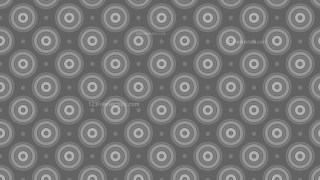 Dark Grey Seamless Concentric Circles Pattern Background