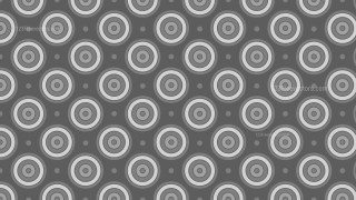 Dark Grey Concentric Circles Background Pattern Design