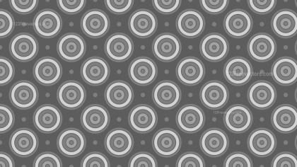 Dark Grey Concentric Circles Background Pattern Design