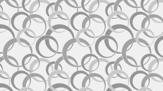 Grey Seamless Overlapping Circles Pattern Illustration