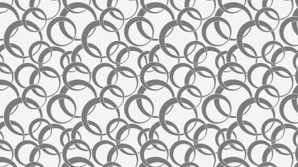 Grey Seamless Overlapping Circles Pattern Background Design
