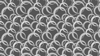 Dark Grey Overlapping Circles Pattern