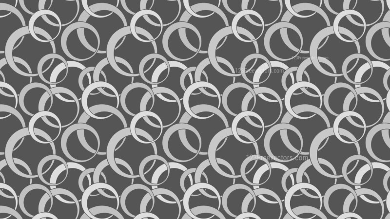 Dark Grey Overlapping Circles Pattern