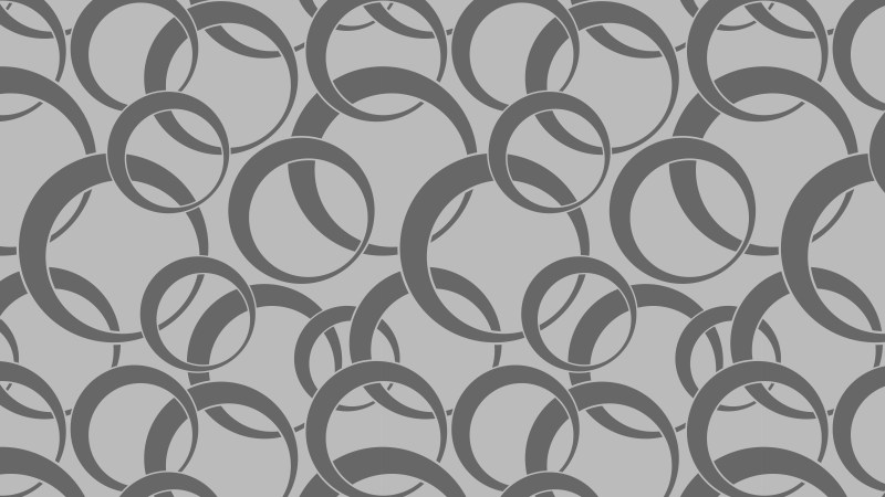 Grey Overlapping Circles Pattern Background