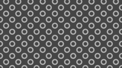 Dark Grey Seamless Geometric Circle Pattern Background Vector Graphic