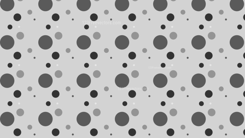 Grey Scattered Dots Pattern