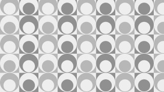 Grey Seamless Geometric Retro Circles Pattern Vector