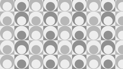 Grey Seamless Geometric Retro Circles Pattern Vector