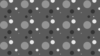Dark Grey Random Scattered Dots Pattern