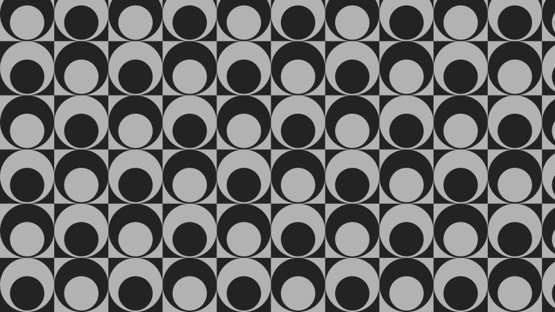 Dark Grey Circle Background Pattern