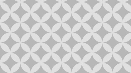 Light Grey Seamless Overlapping Circles Pattern Background