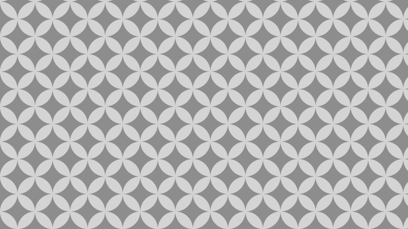 Grey Overlapping Circles Background Pattern Design