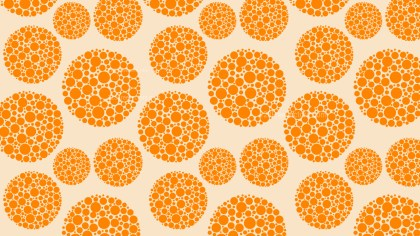 Orange Dotted Circles Background Pattern Vector Image