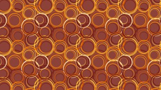 Dark Orange Geometric Circle Background Pattern