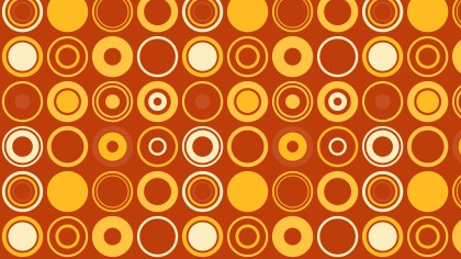 Orange Seamless Circle Pattern Background