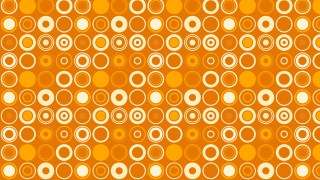 Orange Seamless Geometric Circle Pattern