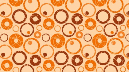 Orange Geometric Circle Pattern Illustration
