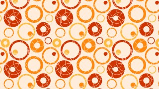 Orange Seamless Circle Pattern Vector Graphic