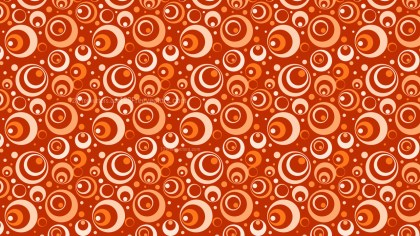 Orange Seamless Geometric Circle Pattern Vector Illustration