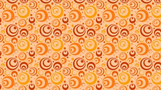 Orange Seamless Geometric Retro Circles Background Pattern Graphic