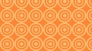 Orange Seamless Concentric Circles Pattern Image