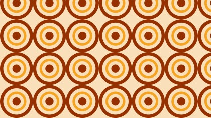 Orange Seamless Concentric Circles Pattern Background Vector Graphic