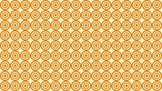 Orange Concentric Circles Pattern