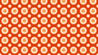 Orange Seamless Circle Background Pattern