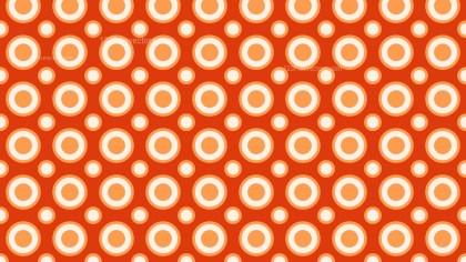 Orange Seamless Circle Background Pattern