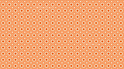 Orange Seamless Geometric Circle Background Pattern