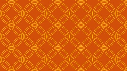 Orange Seamless Overlapping Circles Pattern Background Vector Graphic