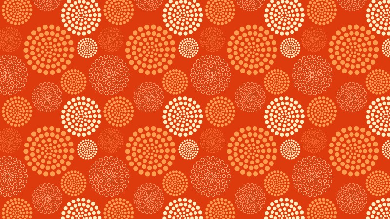 Orange Dotted Concentric Circles Pattern Background Illustration