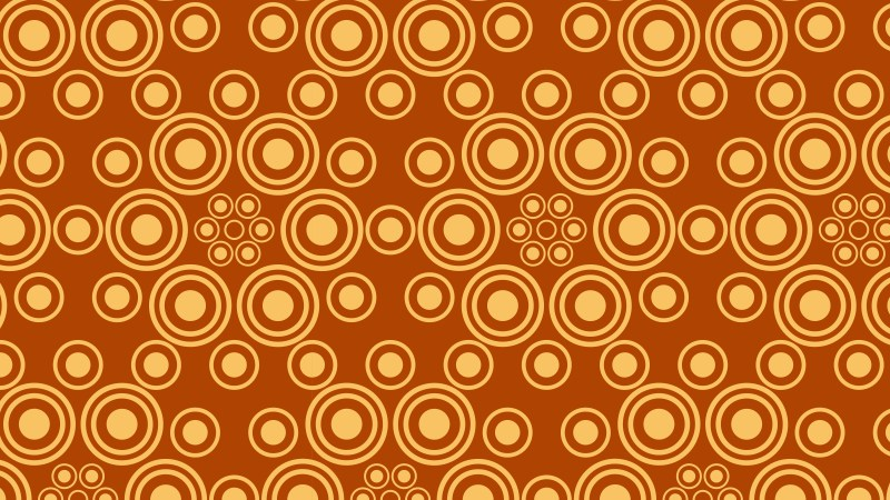 Orange Geometric Circle Background Pattern Vector Illustration