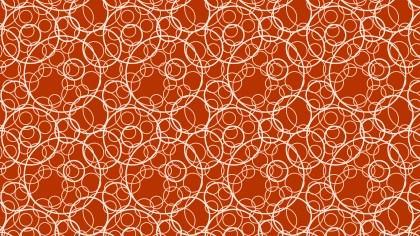 Orange Seamless Overlapping Circles Pattern