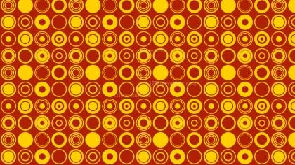 Orange Seamless Circle Pattern Background Vector Art