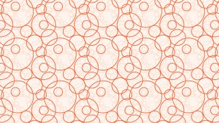 Light Orange Overlapping Circles Pattern Design