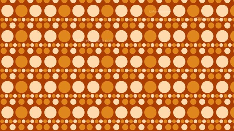 Orange Geometric Circle Pattern