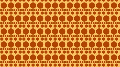 Orange Geometric Circle Pattern Background