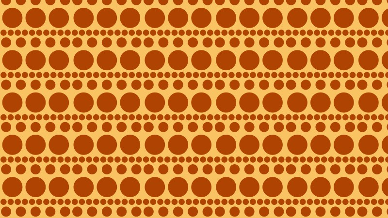 Orange Geometric Circle Pattern Background