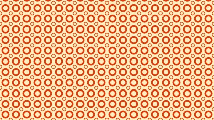 Light Orange Seamless Circle Pattern Background