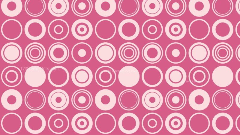 Pink Geometric Circle Pattern Background Graphic