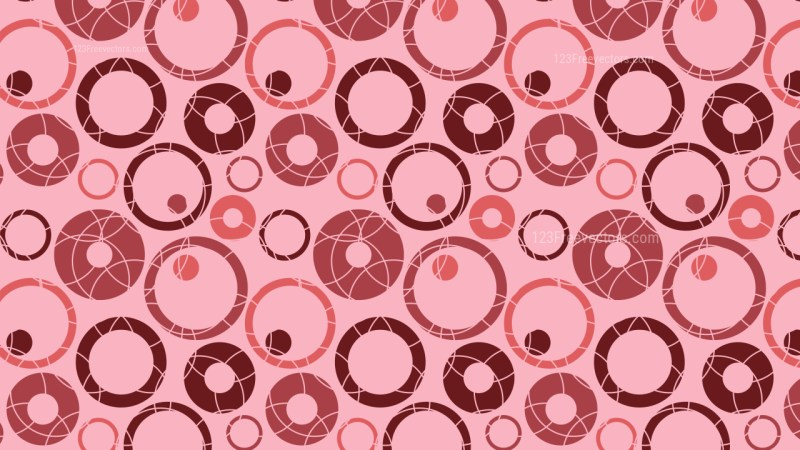 Pink Seamless Circle Background Pattern Vector Graphic
