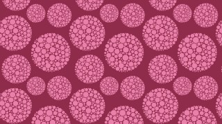Pink Dotted Circles Background Pattern