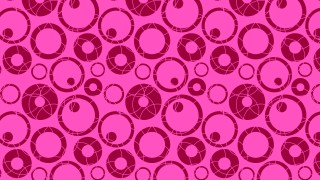 Fuchsia Seamless Geometric Circle Pattern Vector Image